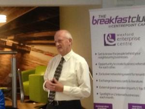 Blaise Brosnan Brekfast Club Wexford Enterprise Centre
